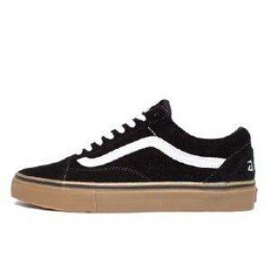 "Vans old skool Black and white ""medium gum"""