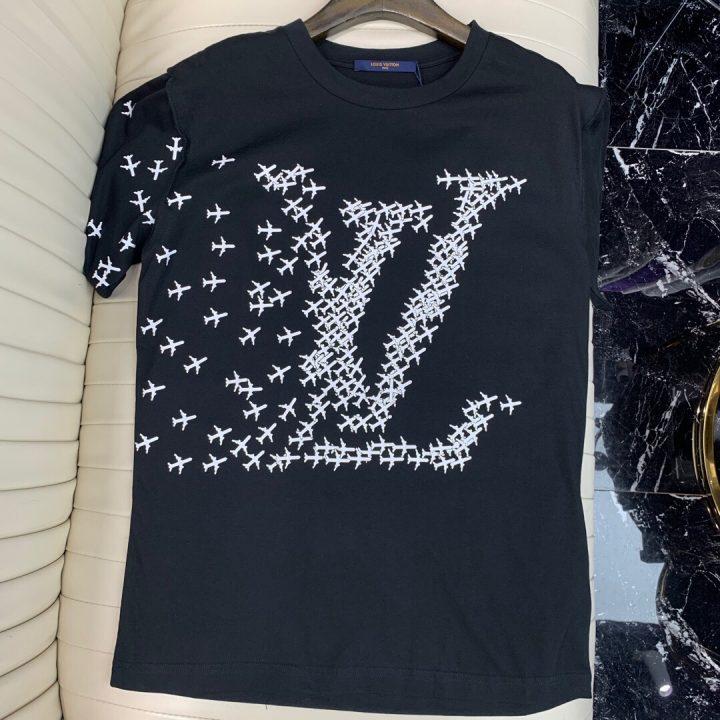 Camiseta louis vuitton x calzetonia black and white
