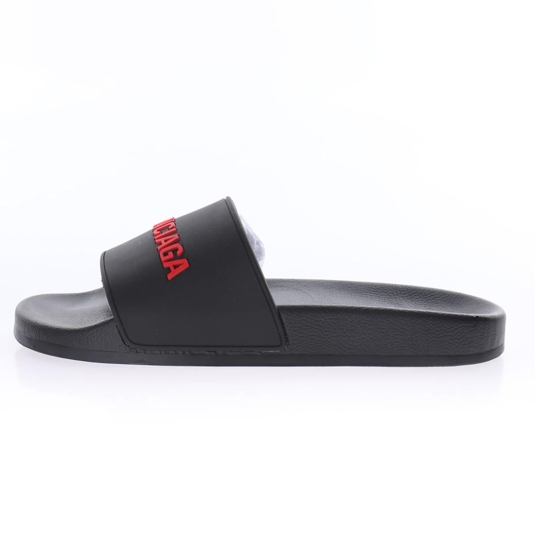Chanclas Balenciaga SS21 Black & Red Edition