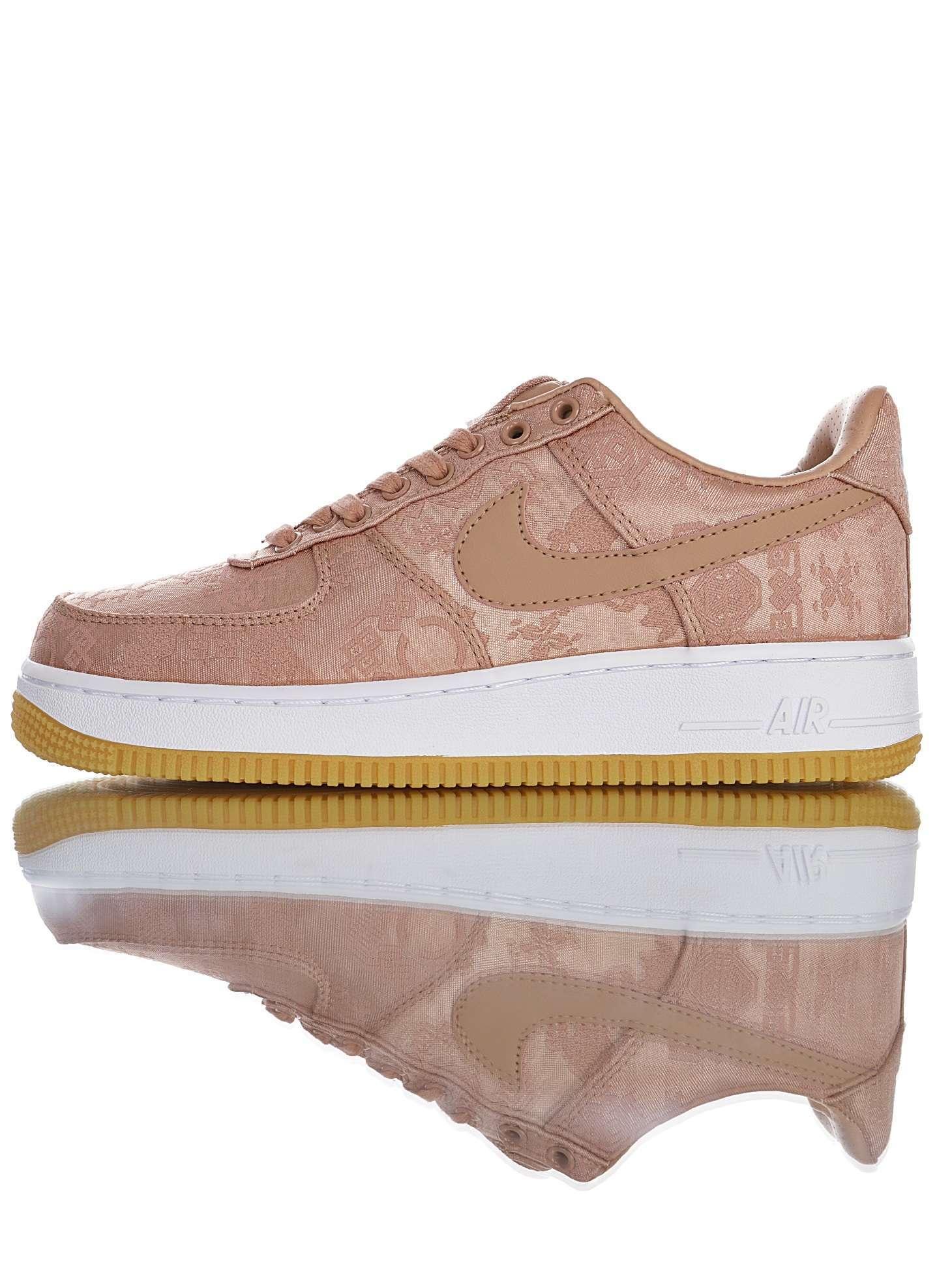 "CLOT x Nike Air Force 1 Low ""Rose Gold"""