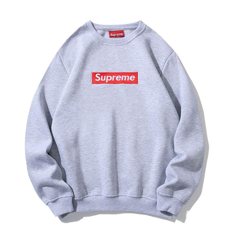 Sudadera Supreme Box Grey