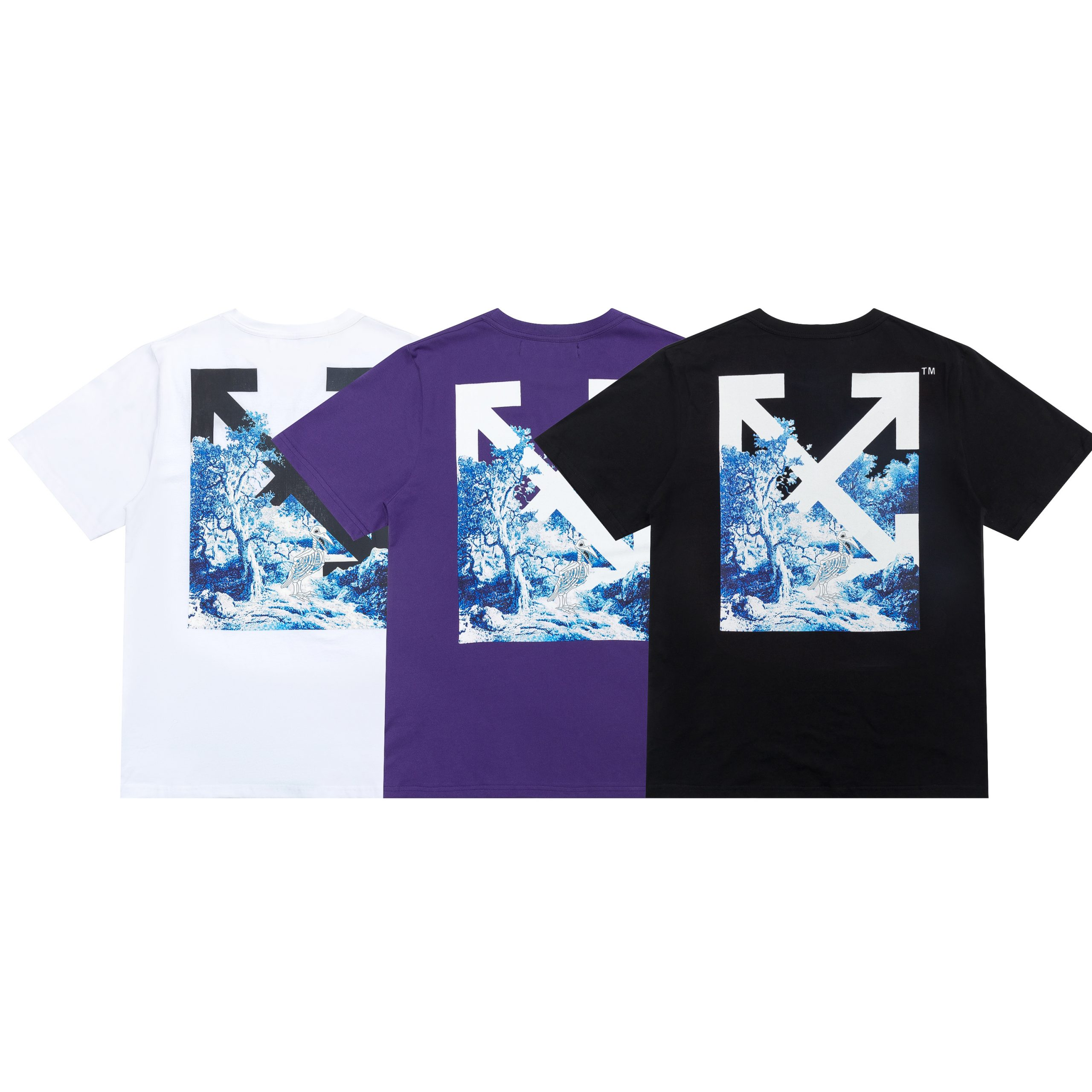 "Camiseta de Manga Corta Off-White ""Wave"""