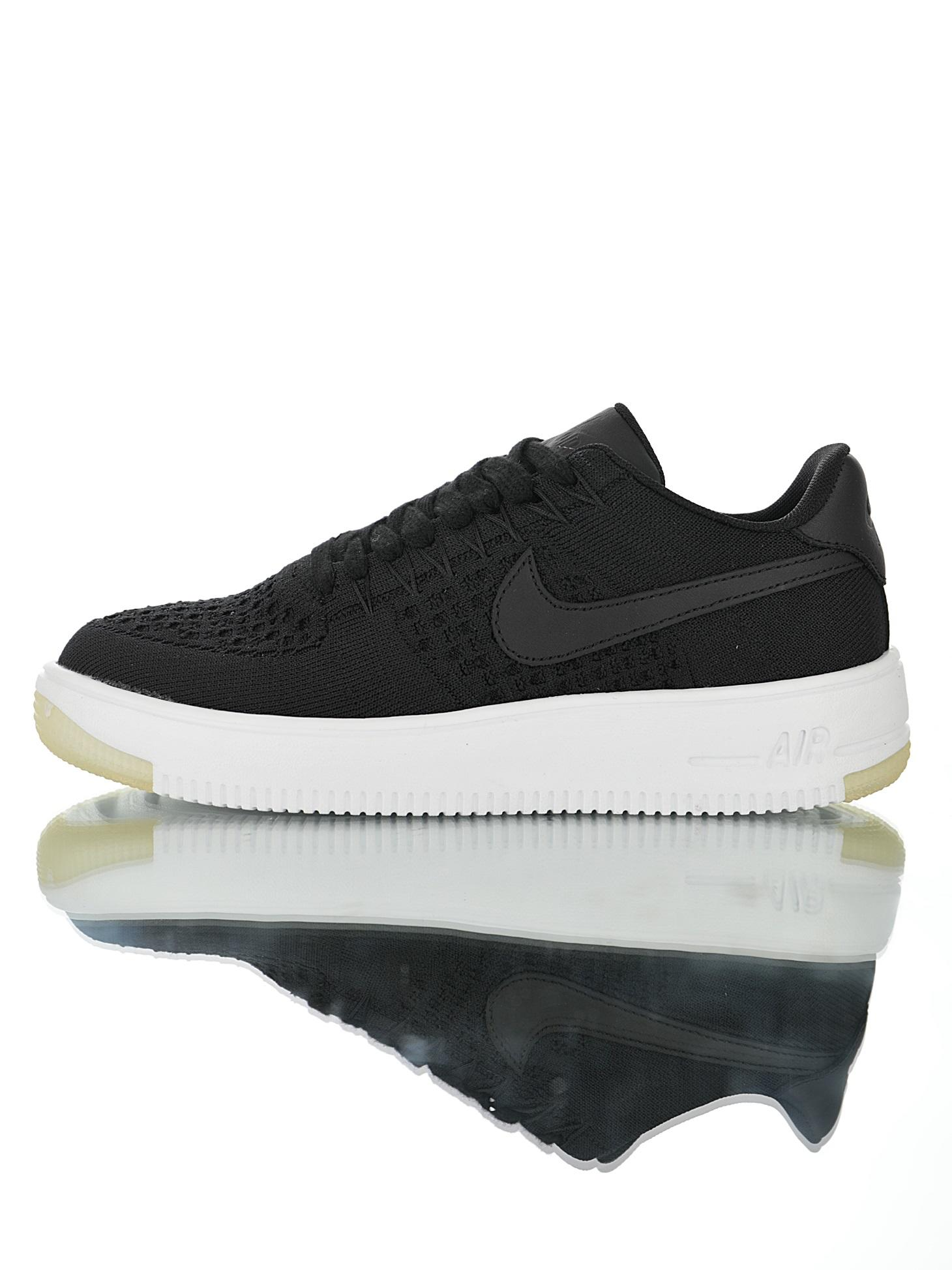 "Nike Air Force 1 Flyknit""Black White""2.0"